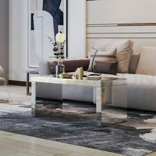 Modern Mirrored Coffee Table Storage Side Table Dining Room Furniture Silver