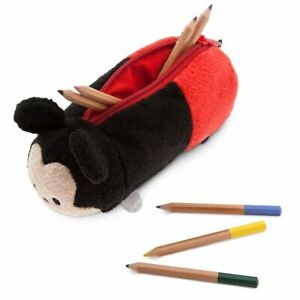 Disney Store Pencil Case Tsum Tsum Mickey Mouse Soft Plush Pencil Case NWT