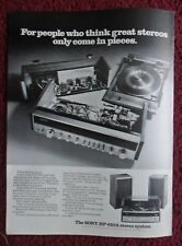 1973 Print Ad SONY HP-610A Stereo System ~ Great Stereos Only Come in Pieces