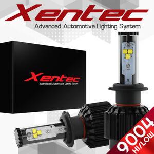 XENTEC LED HID Headlight kit 488W 48800LM 9004 HB1 6000K 1988-1993 Ford Festiva