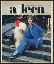 1968 Old English Sheepdog Cute photo Aileen women's pant suit vintage print ad