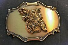 """Boar Hog Animal Raintree 1980 Belt Buckle Open Mouth Height 3.5"""" x Width 2.5"""""""