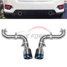 1pair Bilateral Single Outlet Exhaust Pipes Tips Refit For Honda Civic 2016-2018