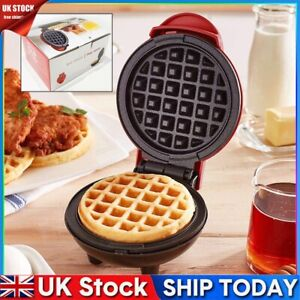 Mini Waffle Maker Machine Kitchen Supplies Round Non-Stick Baking Pancake Snack