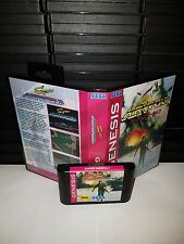 Super Airwolf  shoot em up Game for Sega Genesis! Cart & Box