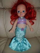 "Soft/Sweet,Soft body,plastic head Disney Ariel princes doll 12"" tall,red hair,"