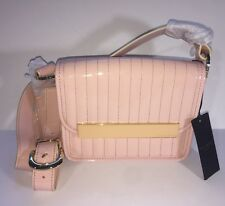 NWT Ted Baker Enamel Crossbody Light Pale Pink Flap Front Purse Bag X-body