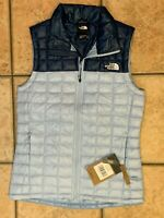 THE NORTH FACE BLUE ECO THERMOBALL JACKET VEST COAT PUFFER WOMEN XS NEW NWT