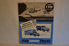 Vintage 1953 Ford Truck Series F-700 Original Brochure Dump Oil Gas Trucking