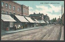 Postcard Wealdstone nr Harrow Middlesex publisher shop High Street posted 1915