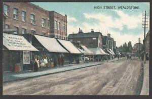 Postcard Wealdstone nr Harrow Middlesex publisher shop High Street posted 1915