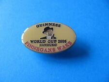 Guinness Finnegans Wake, World Cup 2006 Football Pin Badge. Pale Orange.
