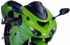 Bulles et pare-brises noirs pour motocyclette Kawasaki