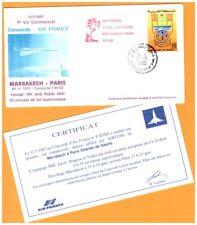 MAROC / 1° VOL Air France AVION CONCORDE Ligne MARRAKECH-PARIS le 12.5.1985
