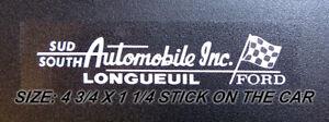 CAR DEALER SUD AUTOMOBILE LONGUEUIL - FORD - DECAL - STICKER- VINTAGE
