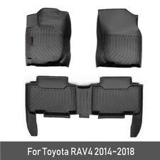 1SET Car Floor Mats For Toyota RAV4 2014-2018 TPE Carpet Foot Boot Liner Mat