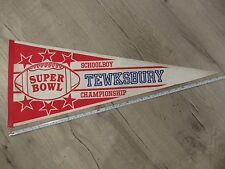 Tewksbury Massachusetts High School Mass MA Vintage Felt Pennant Flag Football