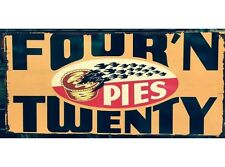 NEW Four N Twenty Blackbirds tin metal sign