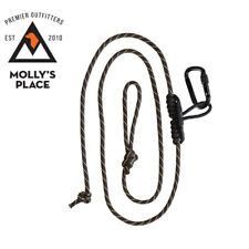 Muddy MSA070, Safety Harness Lineman's Climbing Rope w/ Carabiner & Prusik Knot