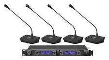 NEW Pyle PDWM4700 Professional Rack Mount 4 Channel Desktop Wireless Mic System