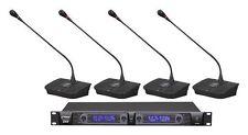 NEW Pyle PDWM4700 Professional Rack Mount 4 Channel Desktop Wireless Mic System