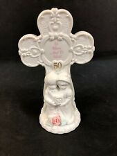 Rare precious moments figurine To Have & To Hold Wedding Anniversary Cross 50th