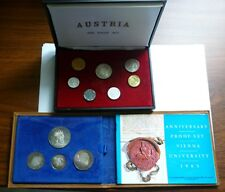 1965 AUSTRIA - COMPLETE OFFICIAL PROOF SETS - SILVER (4) & REGULAR (7) - 1.5 Oz