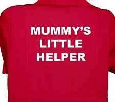 Mummy's Little Helper Childrens, Kids, Coverall, Boiler suit, Overalls 1-8yrs