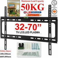 TV WALL BRACKET MOUNT SLIM FOR 32 40 45 50 55 60 65 70 INCH FLAT LCD LED PLASMA