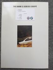 BMW 3 Series Coupe 1992 brochure - 318is, 320i and 325i models