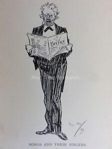 Opera Singer & Tenor Music THYFACE Antique Cartoon