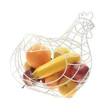 Rack de frutas grandes de malla de alambre en forma de pollo