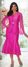 Midnight Velvet Fuchsia Formal Church Corinna Skirt Suit 6 8 10 12 16W PLUS