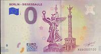 BILLET 0  EURO BERLIN SIEGESSAULE  ALLEMAGNE 2018 NUMERO 100
