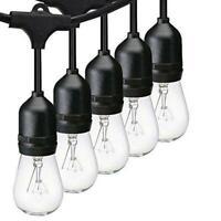 Pack of 2 - Svater S14 LED String Lights 49ft Waterproof IP65 Commercial Grade