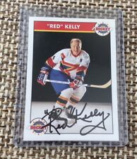 RED KELLY - SIGNED - 1994-95 Zellers Masters of Hockey Card AUTOGRAPHED HOF