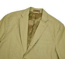 Rugby Ralph Lauren Khaki Cotton Jacket Slim Fit 40R Med 3/2 Roll Tan Blazer Polo