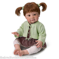 Ashton Drake Ping Lau Weighted Lifelike Girl Child Doll With Freckles