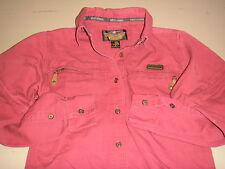 Genuine Very NICE! Harley-Davidson Womens/Ladies (S) Button Collar Dress Shirt