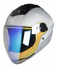 Steelbird Air Sba-2 Night Vision Full Face Matt Silver Motorcycle Helmet Size-M