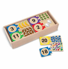 Melissa & Doug 1-2-3 Numbers Wooden Puzzle Cards