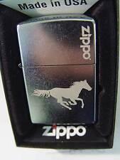 Zippo® Zippo Pferd Horse Running Horse Street Chrome  New / Neu OVP