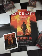 Lot Code 3 Backdraft Collection Sculpture, Limited Ed Backdraft Trucks & Poster