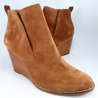 NEW - Lucky Brand Yoniana Booties Womens Size 13M Rust-Brown Suede Ankle Boots