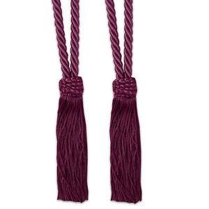 V-Cord Braided Rope Window Curtain Tassel Tieback 2 Pack