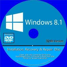 WINDOWS 8.1 RE INSTALL RECOVER REPAIR RESTORE DVD HOME BASIC PROFESSIONAL 32 Bit