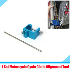 1 Set Chain Sprocket Adjust Alignment Tool Blue Metal For Motorcycle and ATVs