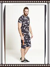 Summer Mens Shorts And T-shirt Set Comfortable For Hot