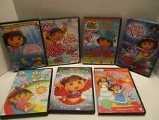 Dora the Explorer Lot of 7 DVD's Nickelodeon Boots Christmas Party Mermaid