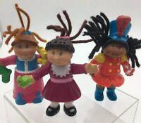 Vintage Cabbage Patch Mini Dolls Mcdonalds 90s Toys Set Of 3 1994 1992